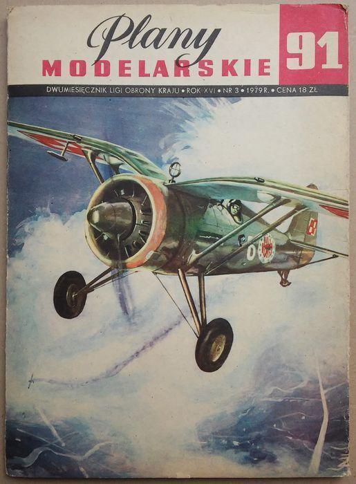 Plany modelarskie 91  samolot PZL-11C i P-24 (UNIKAT ) Polish aircraft drawings