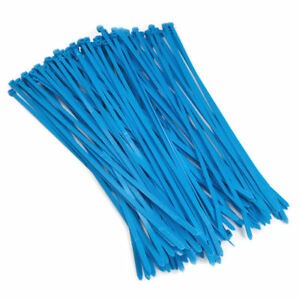 "8.5"" Fluorescent Blue Color 40# Nylon Cable Zip Ties  100pc Bag"