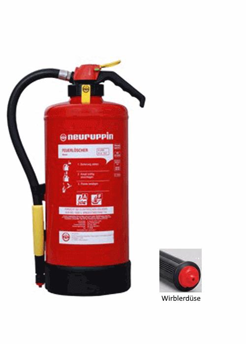 Fettbrand Auflade-Feuerlöscher F9SKM Neuruppin, 21A 75F 6LE, 9Liter, Küche Labor