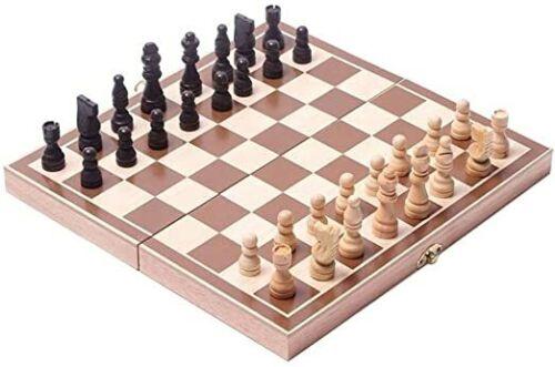"""Juego de ajedrez de madera caja grande de madera de 15 /"""" Plegado estándar USA"""