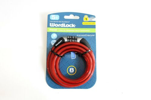 Wordlock Steel Cable Lock 5 ft.x .32 150 cm x 8 mm Free ShippingNo tax