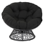 new papasan chair with black cushion and black frame freeshipping
