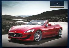 Prospekt brochure 2014 Maserati Granturismo Convertible   (USA)