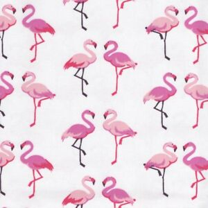 PINK FLAMINGOS STARS DOTS FLORAL 100/% COTTON FABRIC PINK girls bundles fq metre