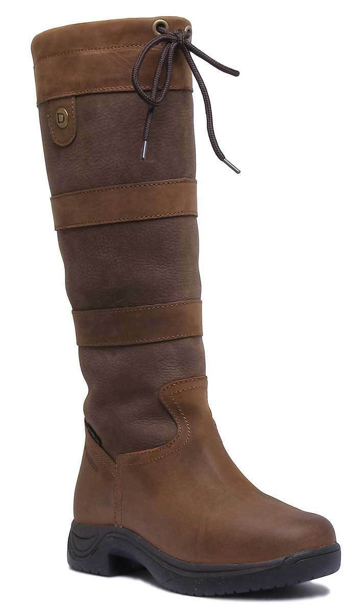 Dublin River Boot Ii Unisex Braun Leder Matt Flat (Less Than 0.5""