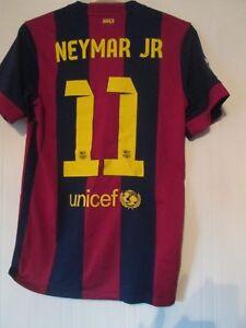 0978d0857 Barcelona 2014-2015 Neymar Jr Home Football Shirt Adult Size Small ...