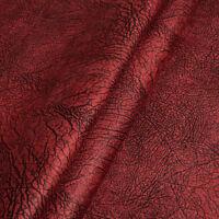 Microfaser Meterware 1lfm Polsterstoff marmoriert Rot Weinrot Alcantara Imitat