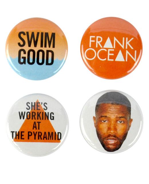 Frank Ocean inspired badges, swim good, channel orange,  nostalgia, ultra, pins