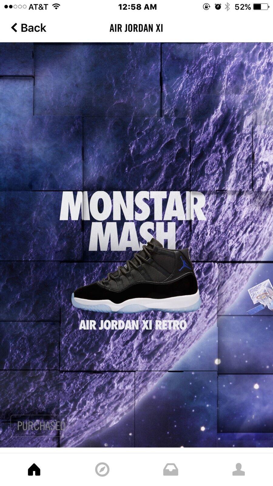 Mens Size 14 Air Jordan Space Jam 11s