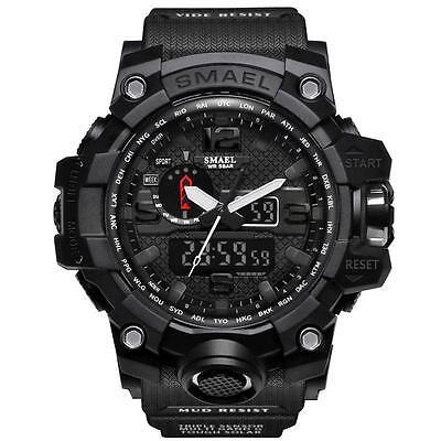 SMAEL Multi función Resistente al agua Fecha Militar Cuarzo Sport Reloj pulsera