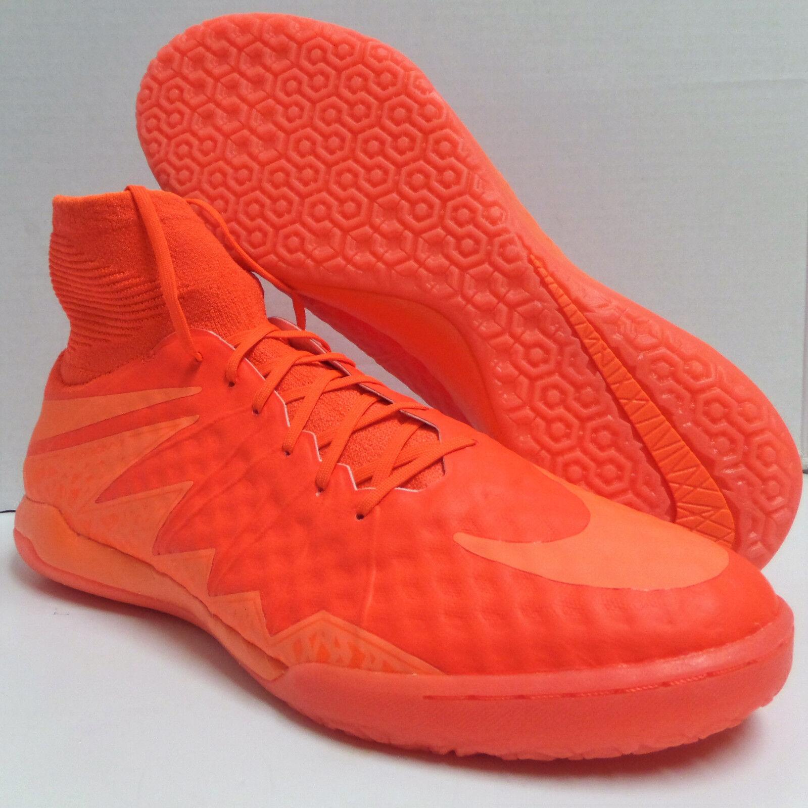 New Men's Nike HypervenomX Proximo IC Size 12 Crimson/Orange Indoor Soccer Shoes