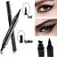 2-en-1-Pro-con-alas-Delineador-sello-Impermeable-Maquillaje-Lapiz-Delineador-de-Ojos-Liquido-Negro miniatura 2