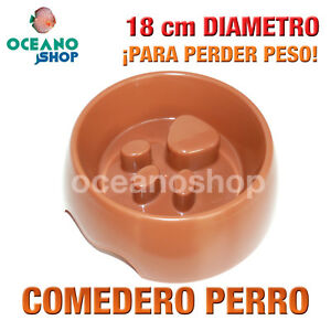 COMEDERO-PARA-PERRO-HUELLA-LIGHT-MARRoN-PARA-ADELGAZAR-18cm-DIAMETRO-L114-2599