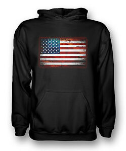 ad72732f835 Image is loading USA-American-Grunge-Flag-Mens-Hoodie