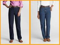 Lands' End Classic Relaxed Women's Jeans $45 Nip