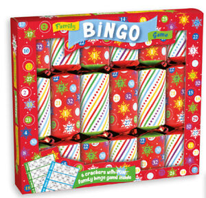 Christmas Crackers Hat.Details About Box Of 6 Bingo Christmas Crackers Party Family Game Includes Joke Hat Xahgs600