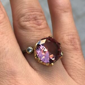 Turkish-100-Color-Change-Alexandrite-925-Solid-Sterling-Silver-Ring-6-7-8-9-10