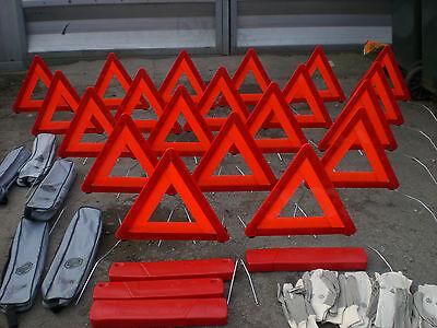 10X Original Mg Rover MGF Tf SAC880662 conjuntos de triángulo de advertencia RV8 ZR 25 45 ZS Mini