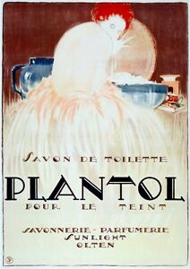 3057.Plantol Soap.Redhead Fashion French POSTER.Home room office art decoration