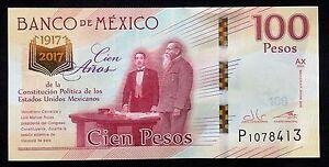 Image Is Loading Banco De Mexico 100 Pesos New Commemorative Banknote