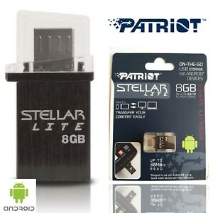 Patriot-Stellar-Lite-8GB-Flash-Drive-for-Micro-USB-Android-Black-Memory-Card