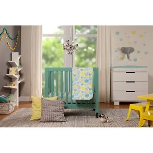 Image Is Loading Babyletto Tulip Garden 4 Piece Mini Crib Bedding