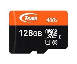 Team TUSDX128GUHS03 128GB UHS-I / Class 10 533x microSDXC Memory Card