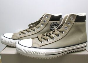 fd2e3979281b Converse All Star Chuck Taylor lined leather boots sand 9 men   11 ...