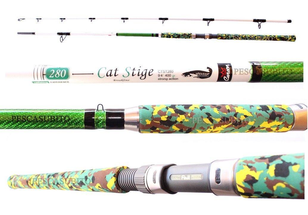 Canna Cat Stige 2.80Mt 400Gr Pesca Siluro Break Line Pietra Fondo TP