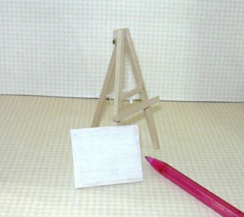 Miniature Child's Natural Wood Easel (3 5/8 Tall) for DOLLHOUSE Playroom 1:12