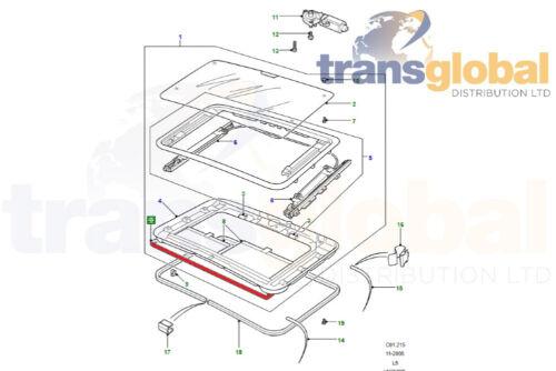 ELECTRIC /& Manuale TETTO APRIBILE GUARNIZIONE in GOMMA per LAND ROVER DISCOVERY 1 e 2 Modelli