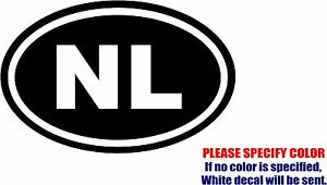 "Vinyl Decal Sticker - Netherlands NL Country Foreign Trip Car Truck Bumper 7"""