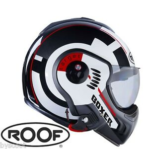 Casque-convertible-ROOF-RO5-Boxer-V8-Target-blanc-integral-jet-moto-NEUF-helmet