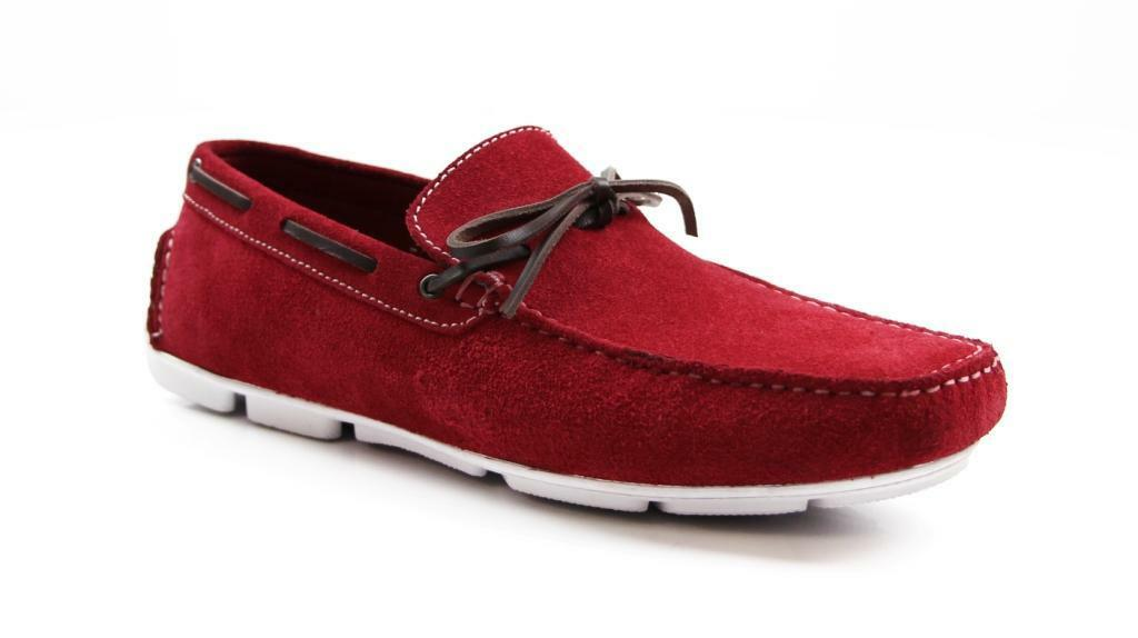ZASEL MENS rot CAMEL SUEDE LEATHER CASUAL DRESS BOAT BOAT BOAT DECK LOAFERS DRIVING schuhe a9d81d