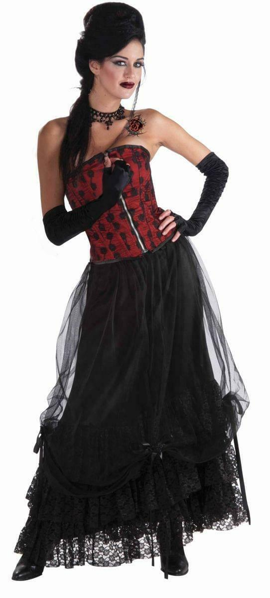 Midnight Gathering Black Costume Skirt One Size Fits Most