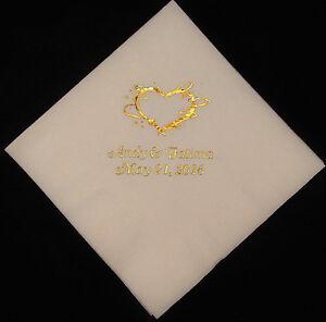 Image Is Loading 450 Personalized Beverage Napkins Wedding Custom Printed