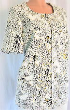 CHANEL 2015 FLORAL JACKET COTTON TOILE RUNWAY SIZE 44 # P51454V38086