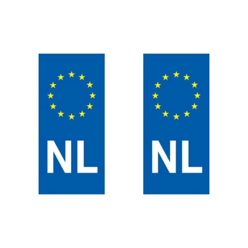 Autocollant plaque immatriculation pays européens eurologo