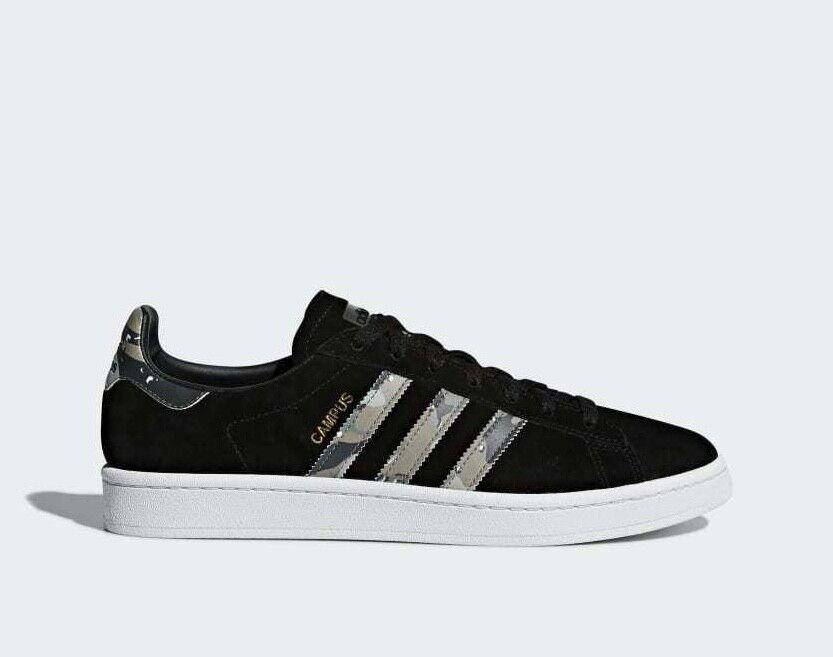 Adidas Originals Campus Men's Trainers Suede Leather shoes - B37821 - Black