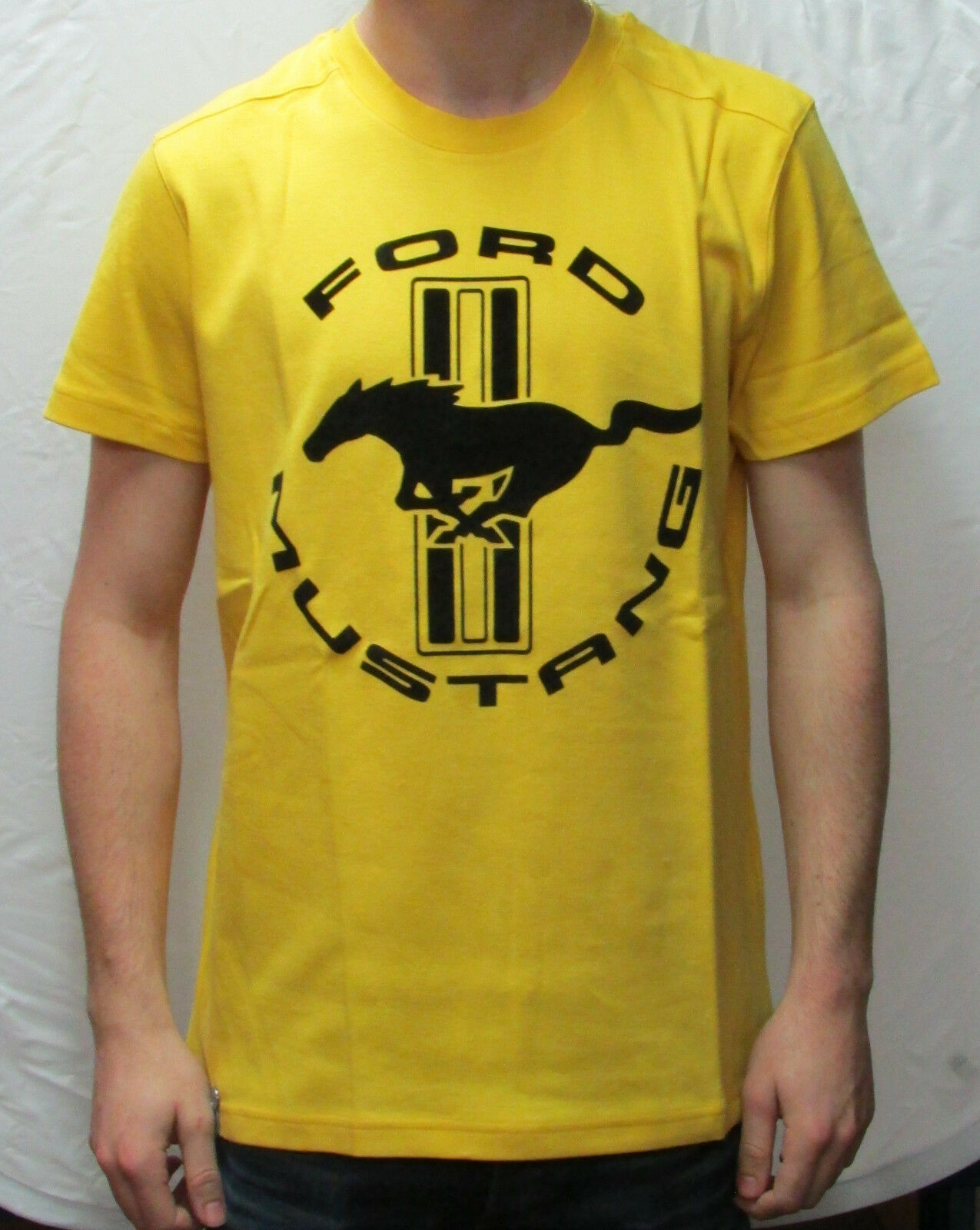 T-Shirt Ford Mustang Yellow Size S 35021292