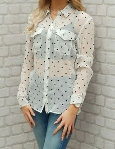 NEW-WITH-TAGS-The-Kooples-Silk-Polka-Dot-Shirt-Blouse-Lovely-RRP-150EURO
