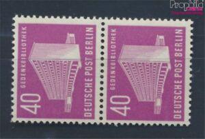 Berlin-West-122-senkrechtes-Paar-postfrisch-1954-Berliner-Bauten-7530002