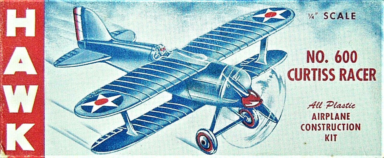 Hawk no. 600 –Curtiss Racer (R3C -1) -1946 Frisläppande –1  48 –Mycket RARE