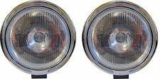 """X2 Pair 9"""" Clear White Spot Fog Light Lamp LED Ring 12v 55w H3 Bulbs"""