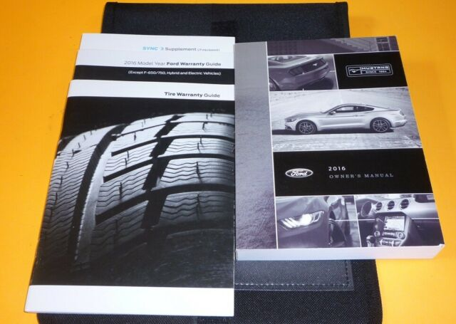 2016 FORD MUSTANG OWNERS MANUAL SET KIT guide 16 +case i4 ...