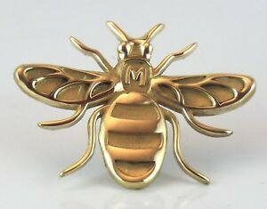 Manchester-Bee-QUALITY-brass-pin-badge-brooch-jewellery-Made-in-Manchester