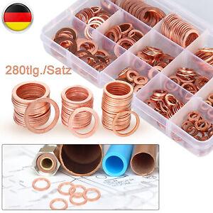 Kupferringe Dichtringe O-Ringe 150-tlg Dichtungsringe Sortiment Ölablaßschraube