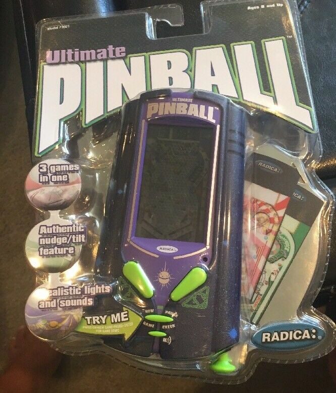 New 2002 RADICA ULTIMATE ULTIMATE ULTIMATE PINBALL Electronic Handheld Game & 3 Cards Sealed 73021 12de99