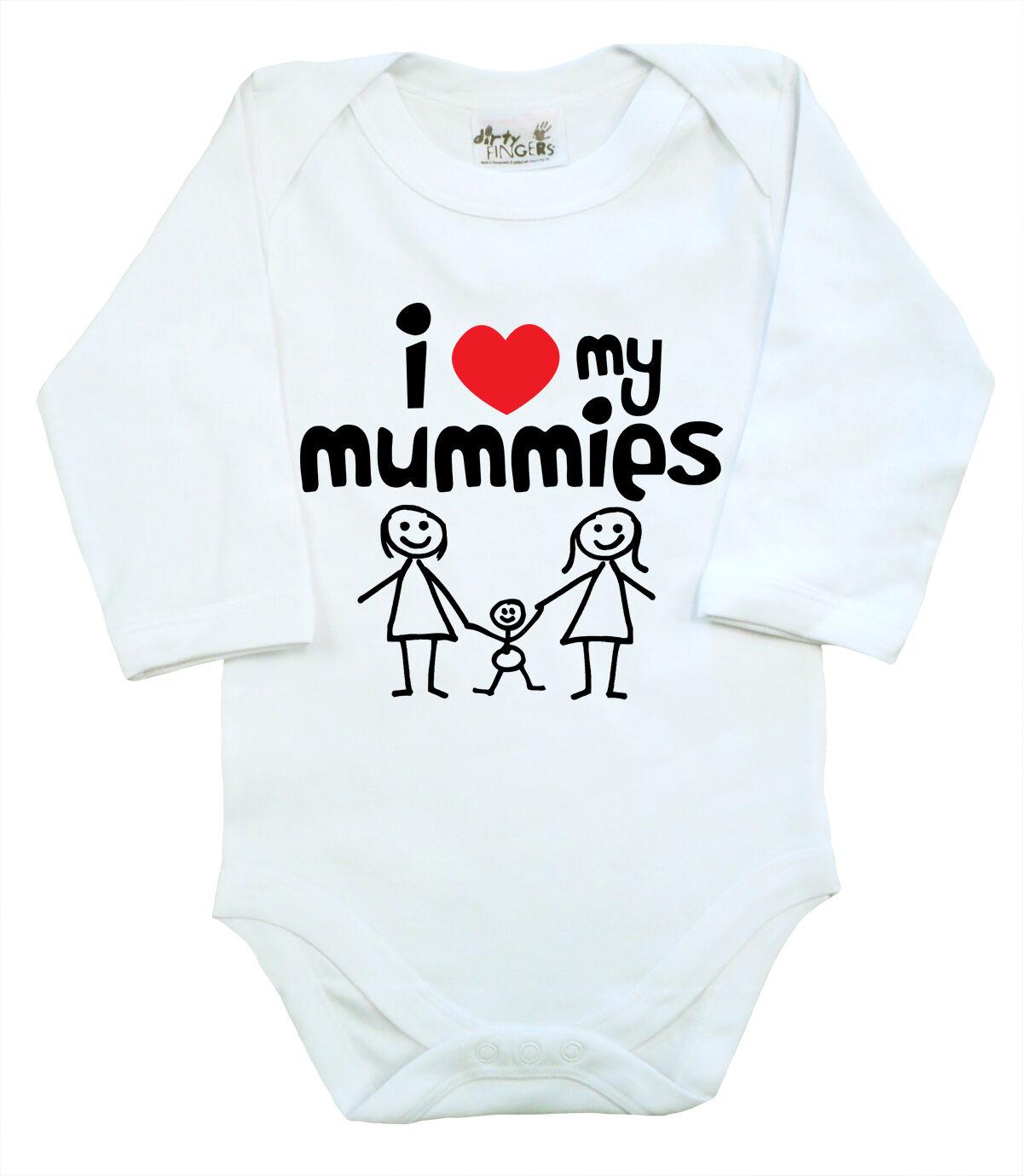 "LGBT Baby Bodysuit /""I Love my Daddies/"" Long Sleeve baby grow Dads Gay Pride"