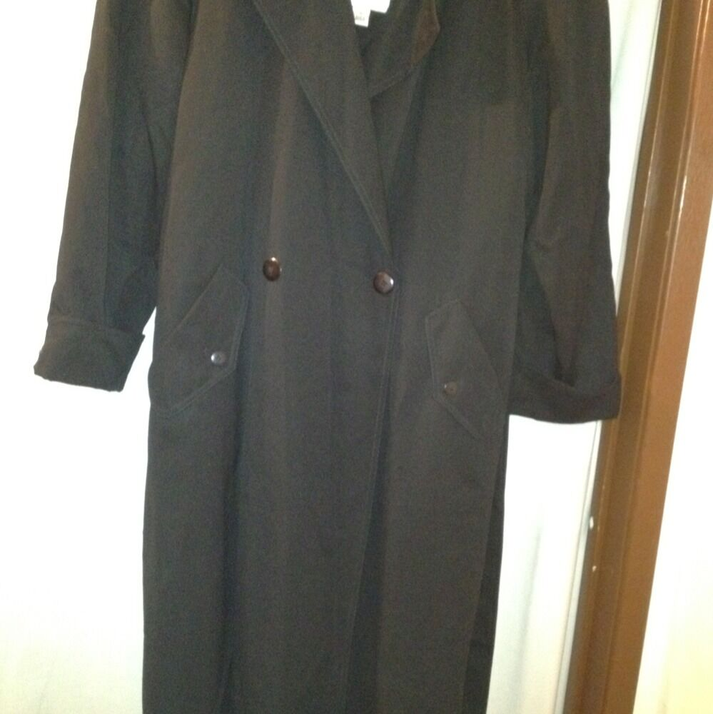 VALERIE STEVENS PETITES WARM WITH ZIP OUT LINING TRENCH COAT  SiZE 12